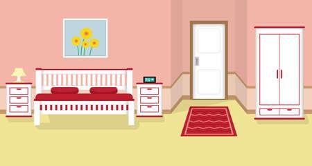 bedroom flat design Illustration