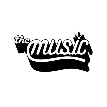 handdrawn the music text
