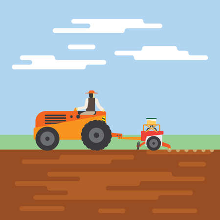 seeding: tractor with automatic seeding