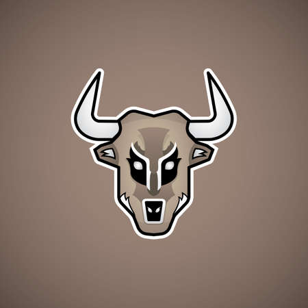 bullfight: ox face abstract icon