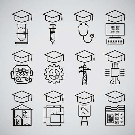 graduate icon Illustration