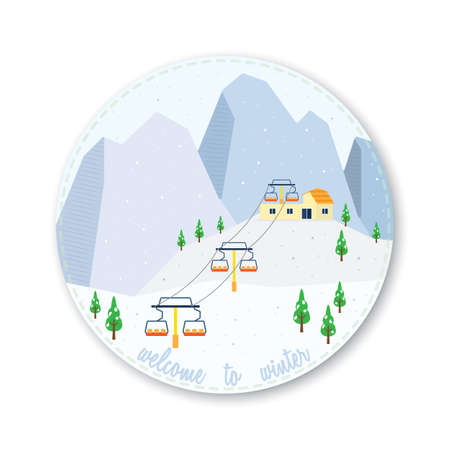 welcome to winter icon in cold mountain