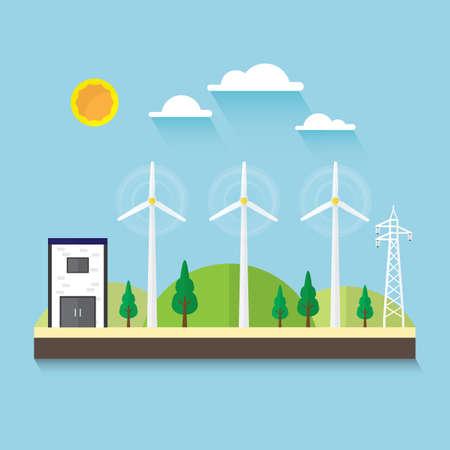 wind turbine simple graphic