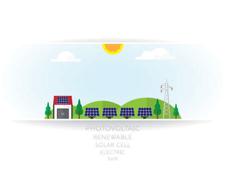 solar cell on white background