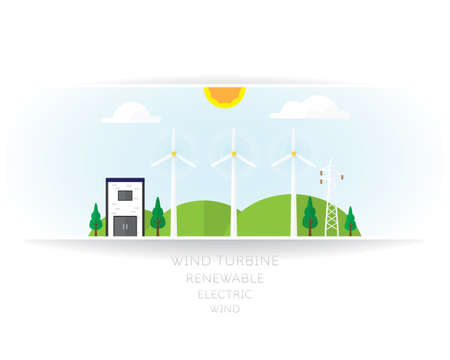 wind turbine on white background