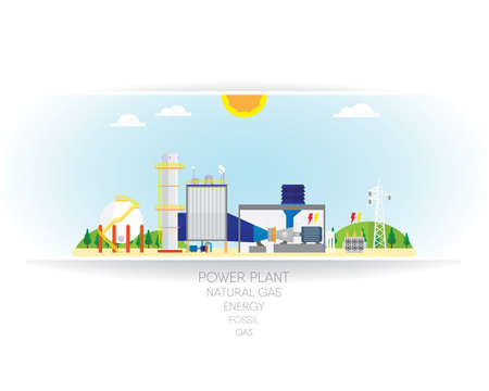 gas energy on white paper background