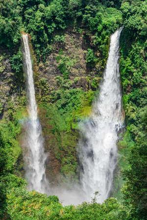 Tad Fane waterfall in Laos Stock Photo