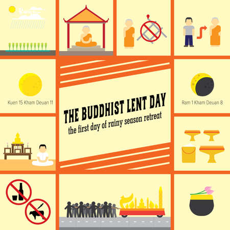 the buddhist lent day Illustration