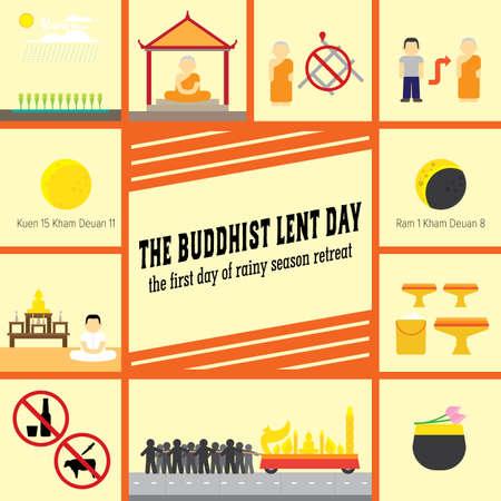 the buddhist lent day Illustration