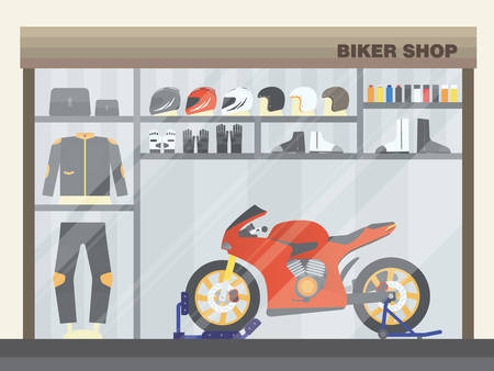 Biker gear and clothing.