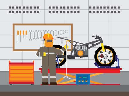 Repair motorcycle