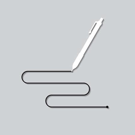 鉛筆の線と  イラスト・ベクター素材