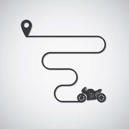 バイク輸送  イラスト・ベクター素材