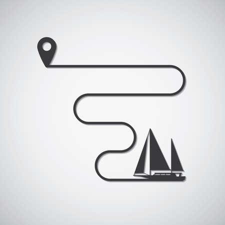 ヨット輸送  イラスト・ベクター素材