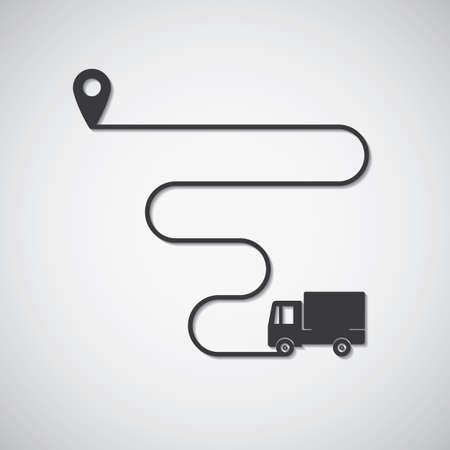 トラック輸送  イラスト・ベクター素材