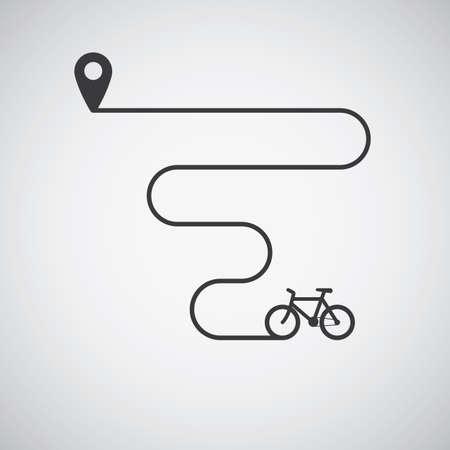 自転車の輸送  イラスト・ベクター素材