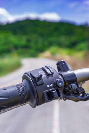 バイク機器スイッチ、インジケーター、ホーンとヘッドライト スイッチ 写真素材