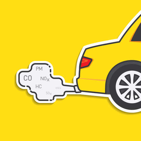 Car exhaust and smoke emission