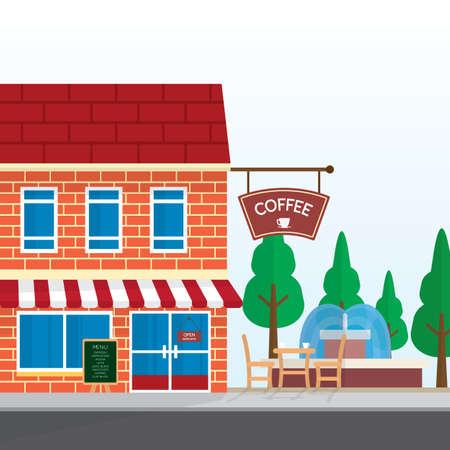 コーヒーショップ  イラスト・ベクター素材