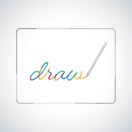 タブレット上にペンで描画します。