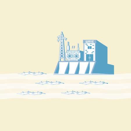 ブイの波に波エネルギーは、シンプルなグラフィックで電気を生成します。
