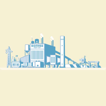 Biomass power plant icon.