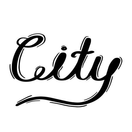 City lettering on white background.