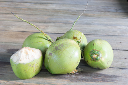 Five  Coconuts on the floor photo