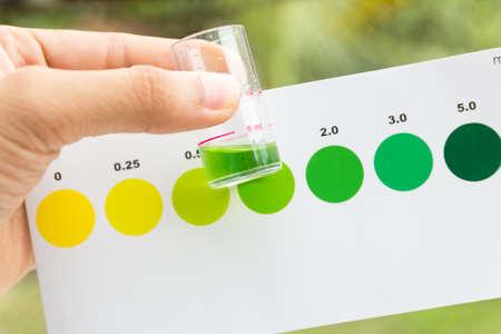 amoniaco: Medición del valor de amoníaco en el agua, el valor de las pruebas de amoníaco en agua de mar