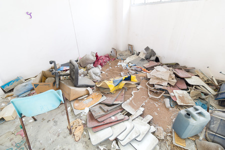 storeroom: Dirty storeroom and Abandoned object