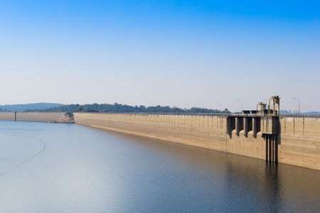 chon: Dam in Thailand ( Khun dan prakan chon ) Stock Photo