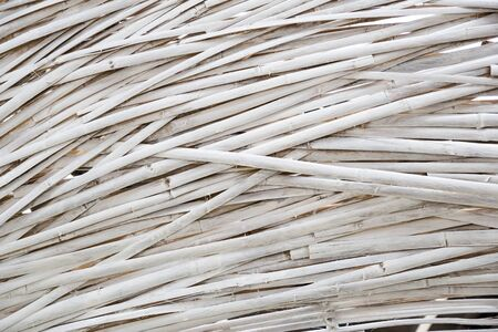 weave: White painted bamboo weave
