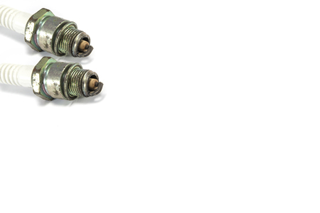 old spark plug with space for text Stock Photo