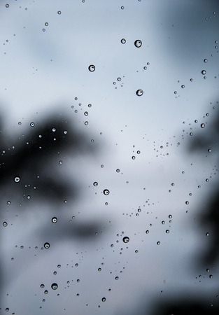 condensation on glass: Water backgrounds with water drops water bubbles (dark tone)