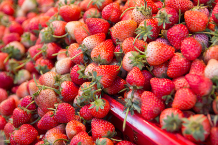 Fresh Strawberry in food market