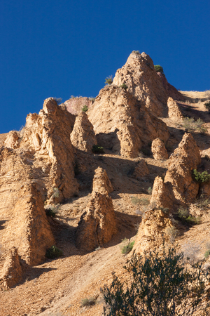large formation: Amazing group of rocks in Khosrov national reserve park on the hill