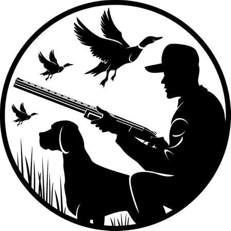 duck hunting backgroune Vektoros illusztráció
