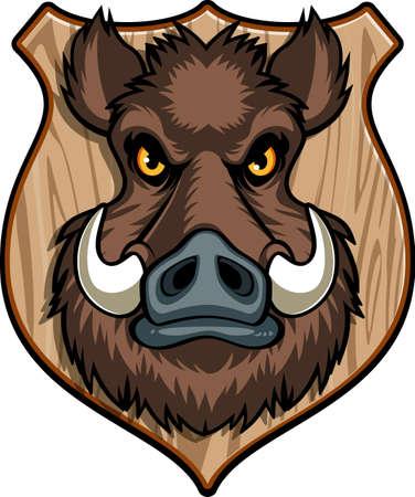 wild boar hunting background Vektoros illusztráció