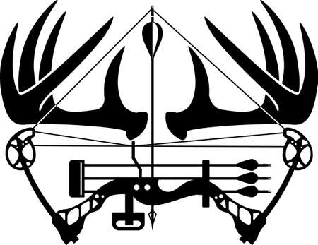 compound bow and hunting arrow