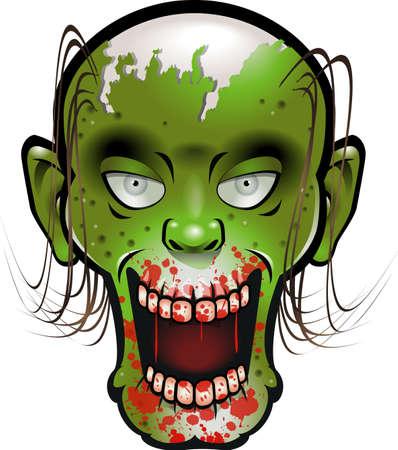 zombie head Ilustración de vector