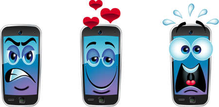 cartoon mobile cell phones