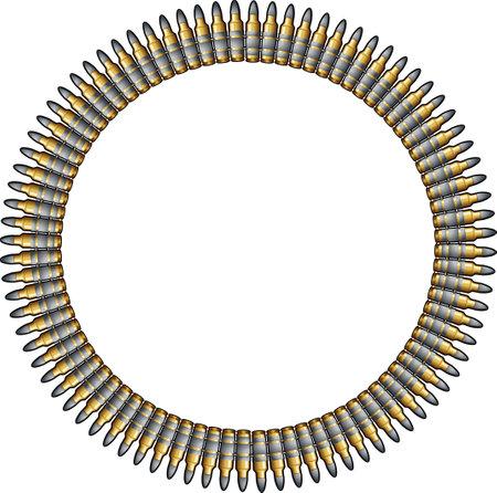 ammunition belt with machine gun cartridges