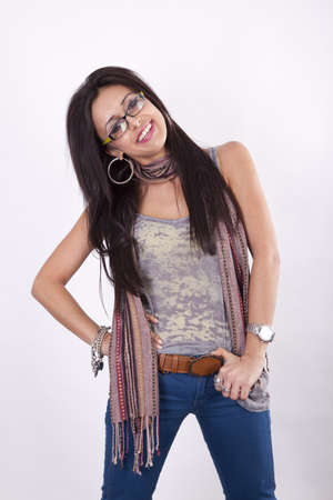 Young cool urban girl smiling Stock Photo - 13757360