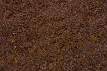 rusty iron plate background with strong grain. Stock Photo - 21591807