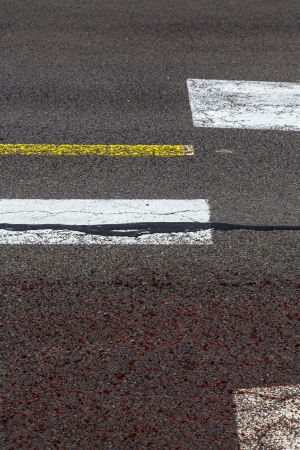 road marking on an airstrip. photo