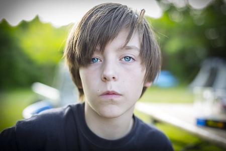 portrait of a teenage boy, self confident  photo