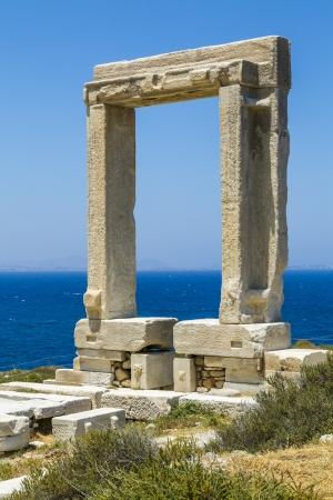 naxos: Apollo temple, landmark of Naxos, Greece  Stock Photo