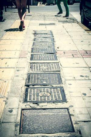 gully: Foto del estilo de la vendimia de algunas portadas de los barrancos.