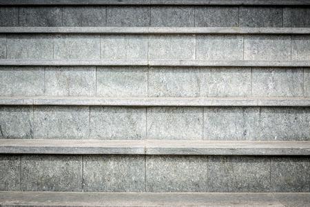 detail of gray granite stairs. photo