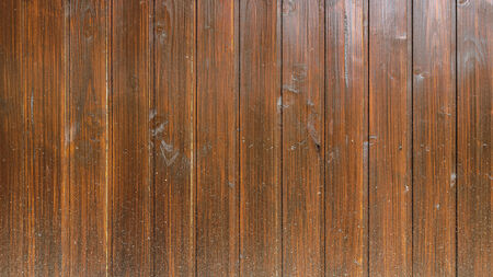 lacquered: old brown wood plank background. Stock Photo